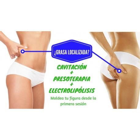 PROMO Cavitación + Presoterapia + Electrolipólisis