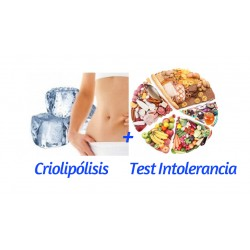 Pack 3 sesiones Criolipólisis + Test Intolerancia + Peso 15 días + Cambio de Alimentos