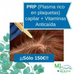 Pack PRP (Plasma rico en plaquetas) Capilar + Vitaminas Anticaida