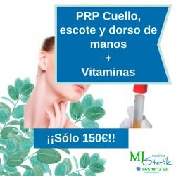 Pack PRP (Plasma rico en plaquetas) Facial + Vitaminas