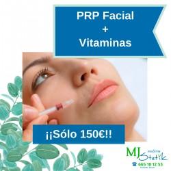 PRP (Plasma rico en plaquetas) Facial o Cara, cuello y escote