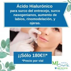 Relleno con Ácido Hialurónico (Precio por vial)