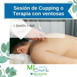 Sesión de Cupping o Terapia con Ventosas